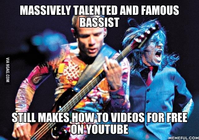 good guy flea, red hot chilli peppers, famous, free youtube how to videos