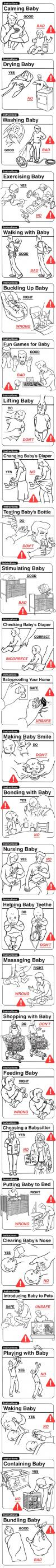 baby rearing, how to care for, instructions, do's and don't's