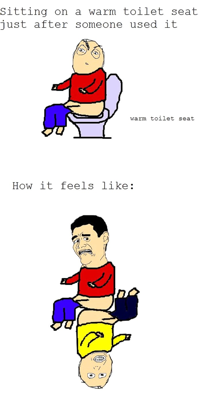 public toilet seat still warm