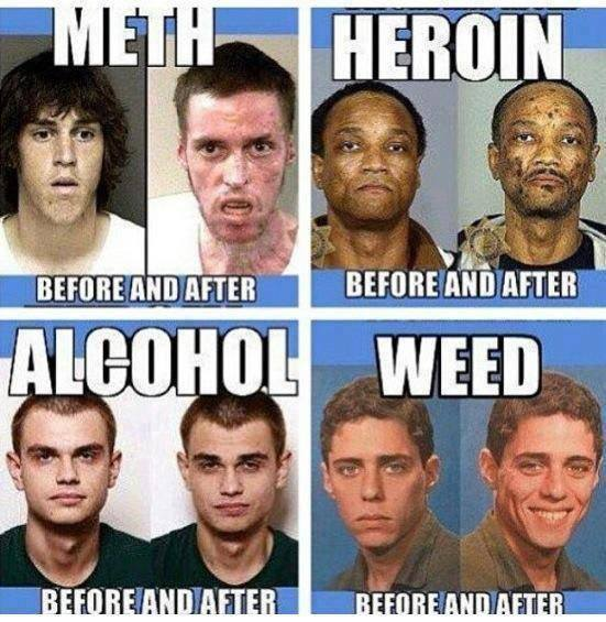 drugs, before, after, meth, heroin, alcohol, weed