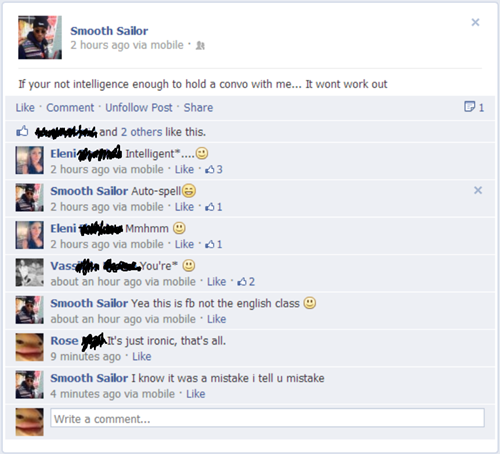 intelligence, facebook, fail, stupid