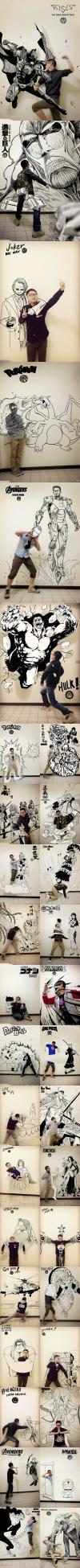 art, asian guy, superheros, win