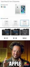 apple, ancient aliens meme, price, memory