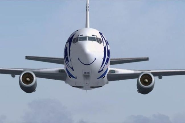 plane, smiley face, paint job