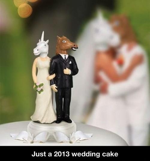 2013 wedding cake, horse face mask