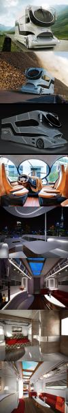 million dollar recreational vehicle, wow, expensive, win, design, rich people stuff