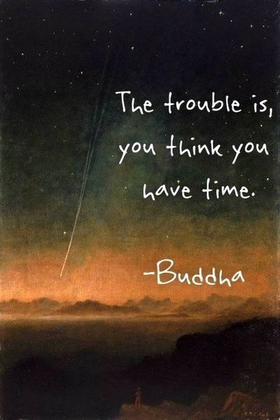 buddha, you think you have time, quote