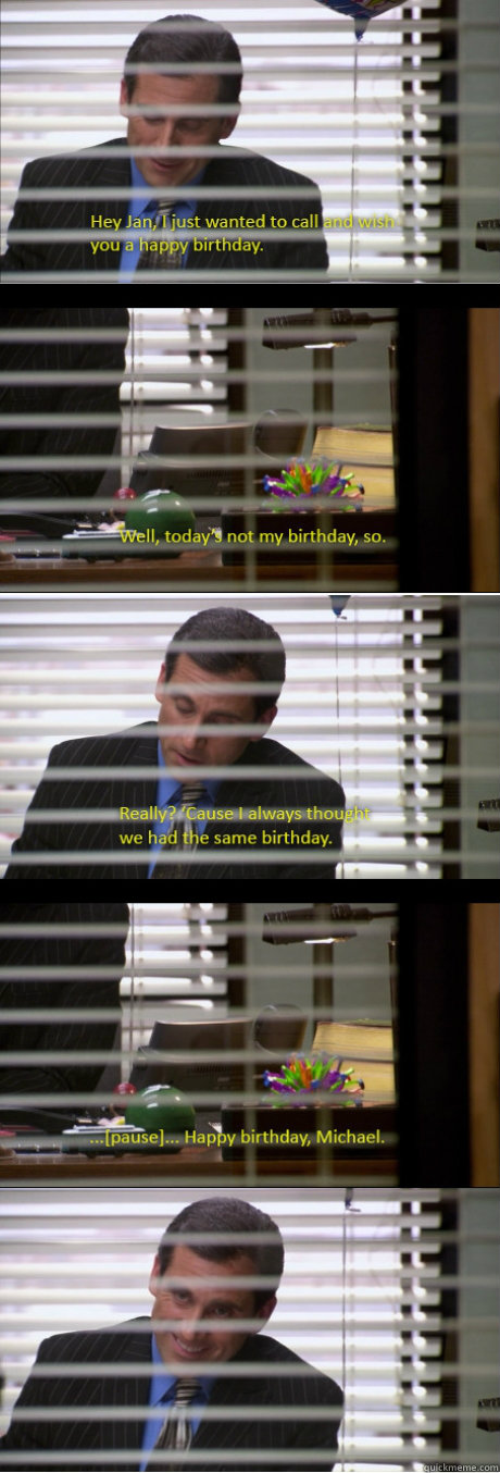 birthday, the office, trick, lol, reminder