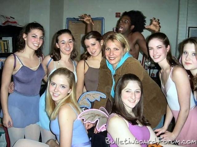 white girls, black guy photobomb