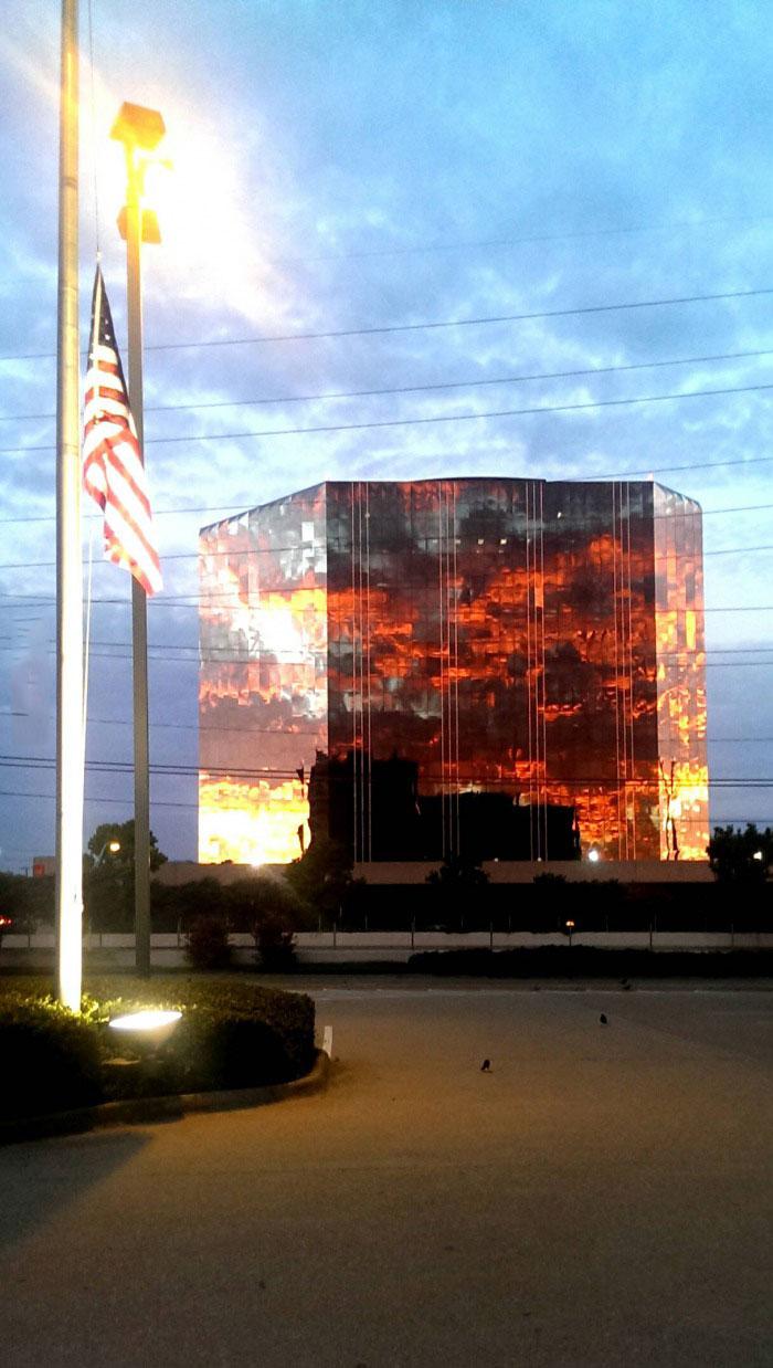 reflection, building, sunset, beautiful