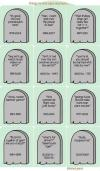 tombstones, things no one says anymore, jokes, lol