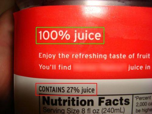 juice, label, contradiction, wtf