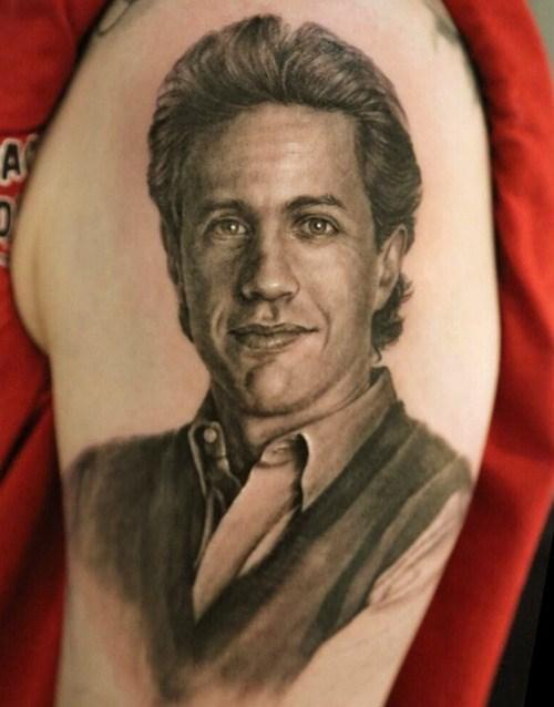 Jerry Seinfeld, tattoo, arm, not bad