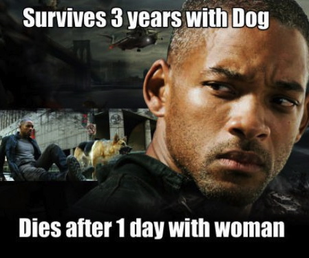 will smith, meme, woman, dog, survival