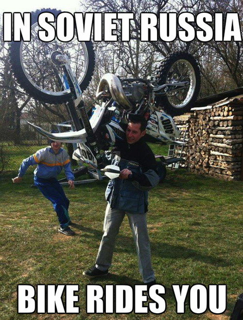 soviet russia, bike rides you, meme