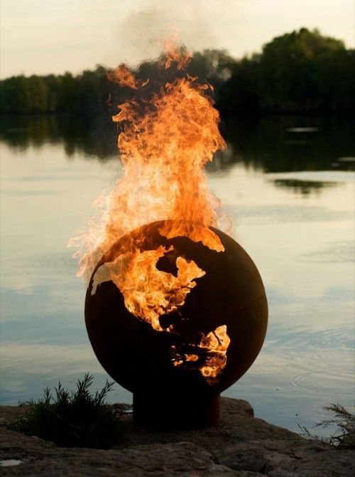 fire pit, earth, flames