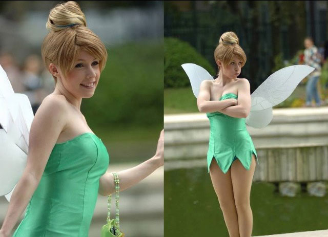 tinkerbell, disney, cute, cosplay, costume