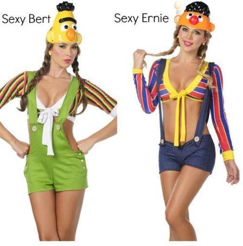 sexy bert, sexy ernie, sesame street, costume, halloween