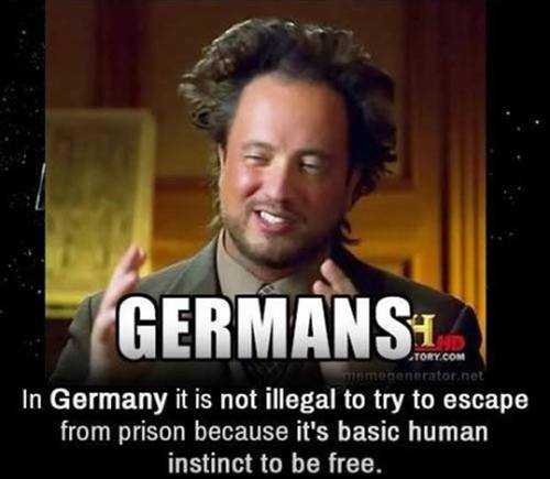 germans, not illegal to try and escape from prison