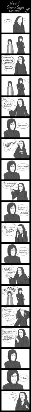 harry potter, snape, voldemort, comic
