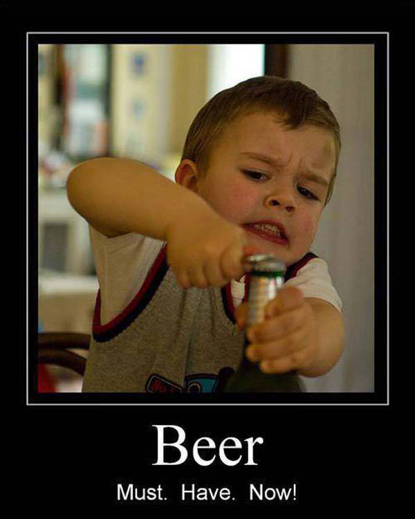 beer, motivation, kid, bottle opener, lol