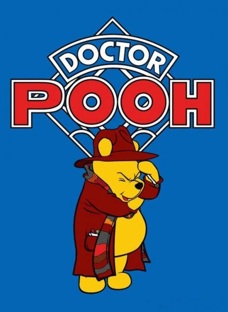 winnie the pooh, doctor who, mashup