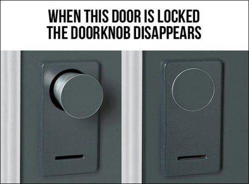 Superbe Hidden Door Knob When Locked