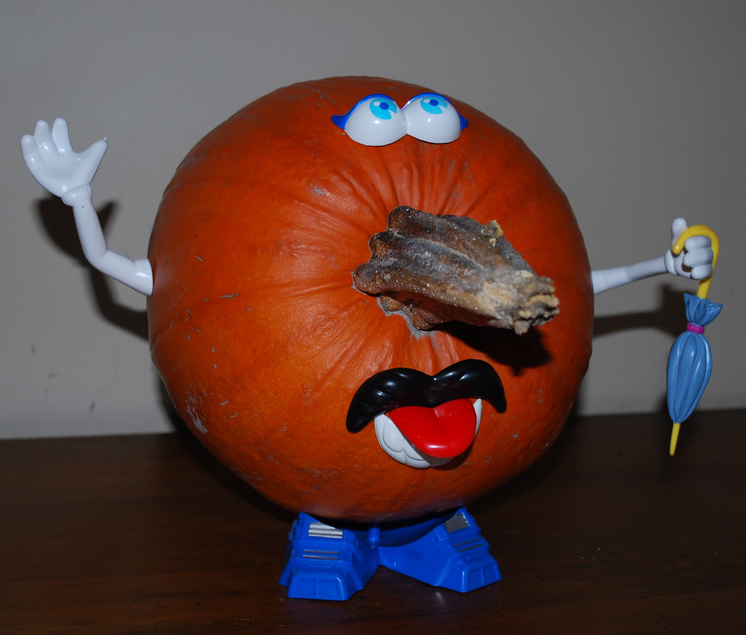 halloween, pumpkin, mr potato head
