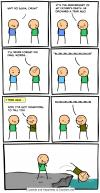 cyanide and happiness, comic, dad's last words