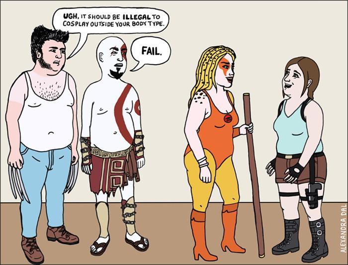 cosplay, hypocrite, women, comicon