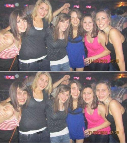photobomb, face swap, photoshop, girls