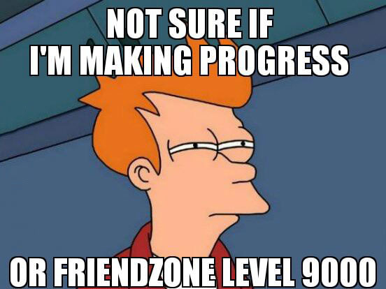 fry, futurama, meme, friendzone level 9000