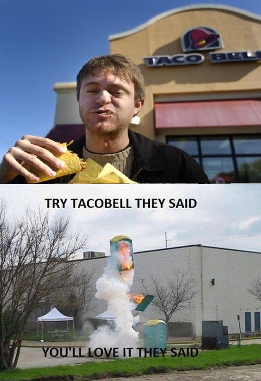 taco bell, exploding porta potty