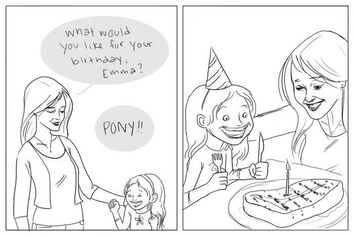 what would you like for your birthday emma?, pony!, comic, lol, wtf