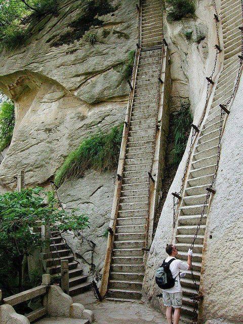 stairs, steep, wtf, china