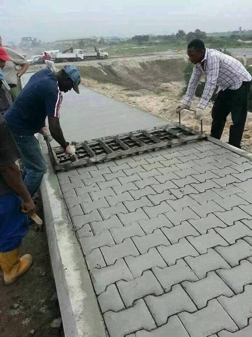 bricks, cement, press