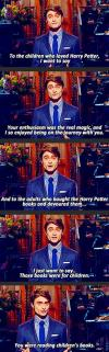 harry potter, daniel radcliffe, to all the children and parents