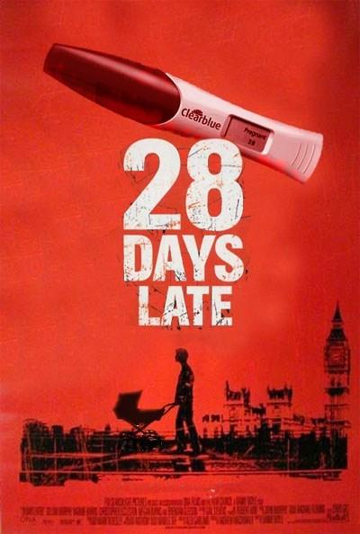 movie poster parody, 28 days late