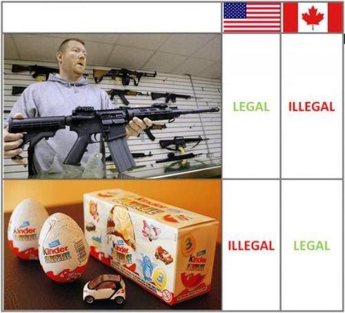 illegal, legal, assault rifle, kinder surprise