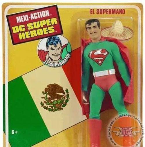 action figure, mexi-action dc super heroes, el superman