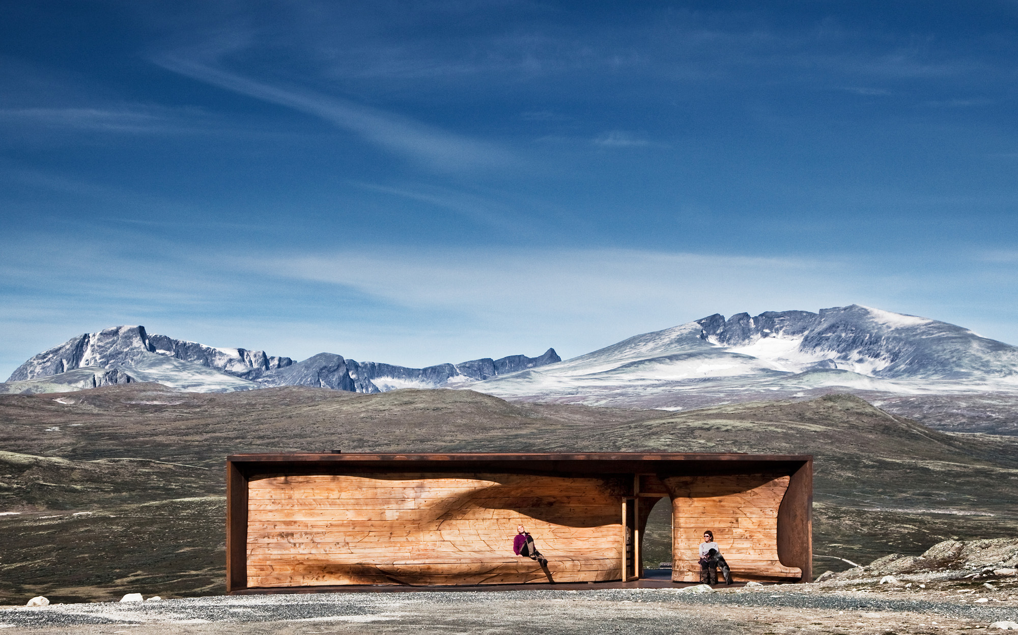 norwegian wild reindeer centre pavilion by snøhetta, norway, landmark, crazy architecture