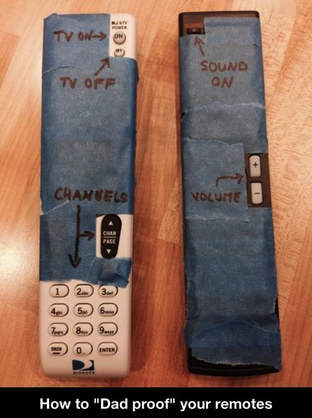 how to dad proof your remote
