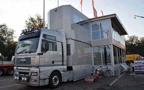 mega mobile home, house, truck, 'murica