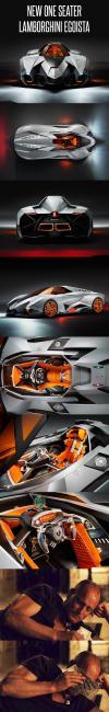 one seat  muscle car, lamborghini, egoista