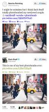 zach braff, photobomb, newly wed couple, twitter, lol