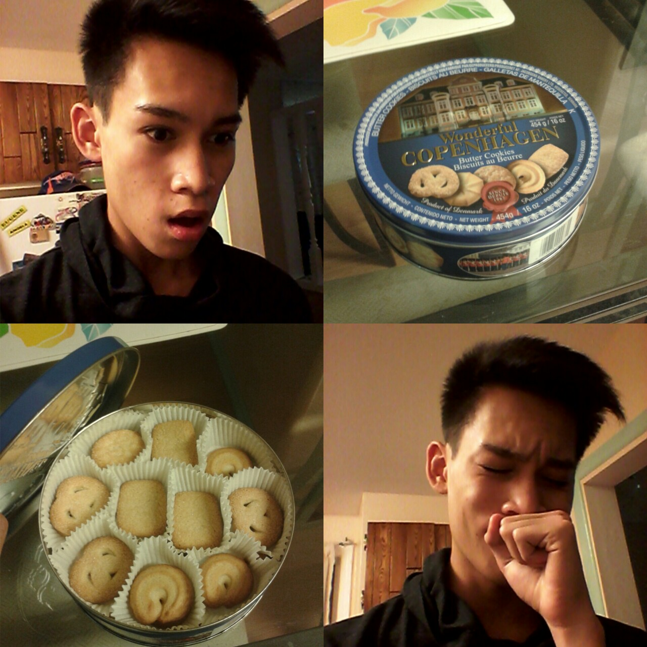 butter cookies, tin, happiest day ever