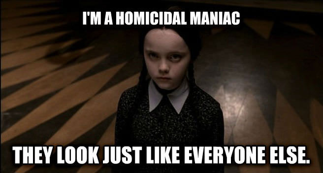 meme, wednesday, homicidal maniac, halloween