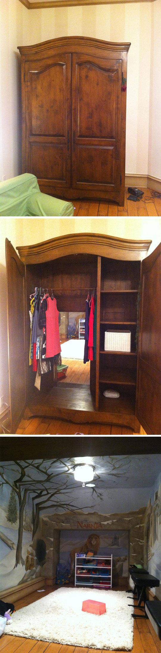 wardrobe, narnia, hidden room