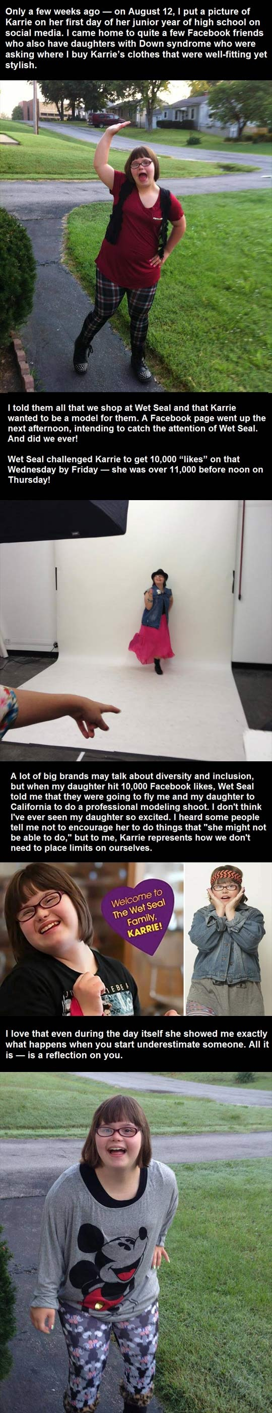 down syndrome, karrie, wet seal, heart warming, faith in humanity