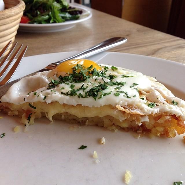 rösti - a criminally underrated swiss classic, egg, potato, parsley, cheese